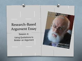 Model research based argumentative essay
