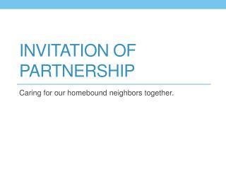 Invitation of Partnership