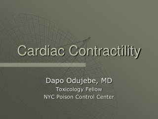 Cardiac Contractility