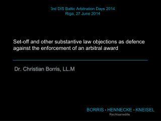 BORRIS  ■  HENNECKE  ■  KNEISEL Rechtsanwälte