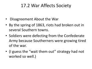 17.2 War  Affects Society