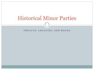 Historical Minor Parties