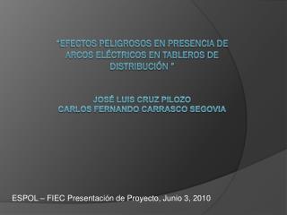 ESPOL – FIEC Presentación de Proyecto, Junio 3, 2010