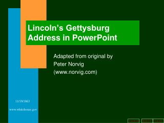 Lincoln's Gettysburg Address in PowerPoint