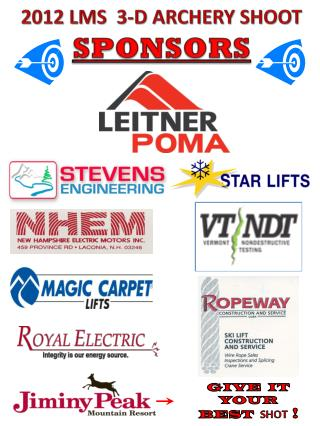 2012 LMS  3-D ARCHERY SHOOT SPONSORS