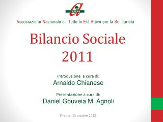 B ilancio Sociale 2011