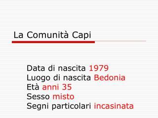 La  Comunit� Capi