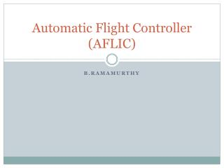 Automatic Flight Controller (AFLIC)