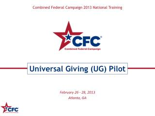 Combined Federal Campaign 2013 National Training