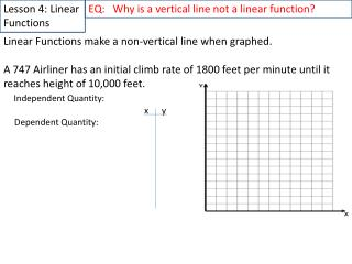 Lesson 4: Linear Functions