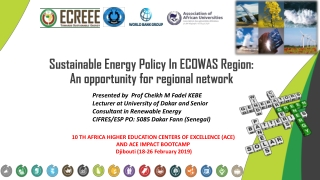 Status of Regional Integration  in EAC and ECOWAS