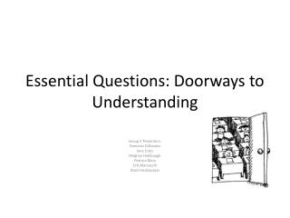 Essential Questions: Doorways to Understanding