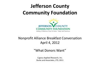 Jefferson County  Community Foundation