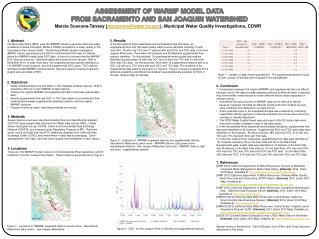 ASSESSMENT OF WARMF MODEL DATA FROM SACRAMENTO AND SAN JOAQUIN WATERSHED