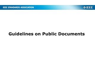 Guidelines on Public Documents