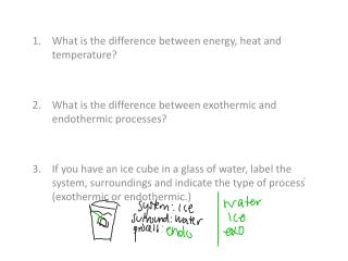 What is the difference between energy, heat and temperature?