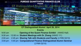 CF Distinguished Alumni   April 29,  2014 Events