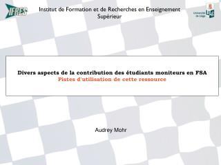 Institut de Formation et de Recherches en Enseignement Supérieur