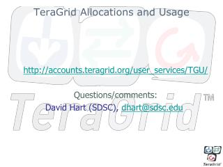TeraGrid Allocations and Usage