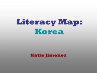Literacy Map: Korea