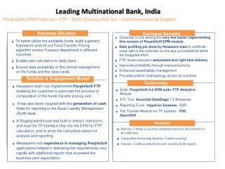 Leading Multinational Bank, India