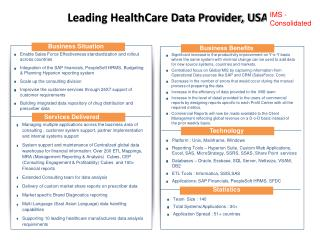 Leading HealthCare Data Provider, USA