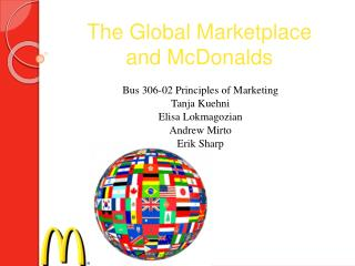 The Global Marketplace  and McDonalds