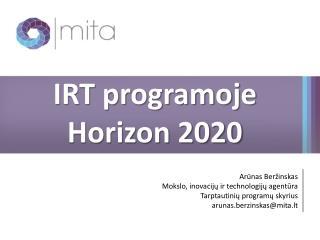 IRT programoje  Horizon  2020