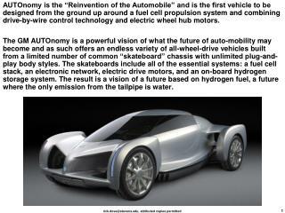 general motors autonomy (skateboard)