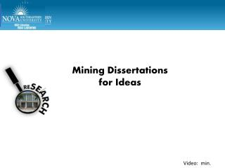 Mining Dissertations  for Ideas