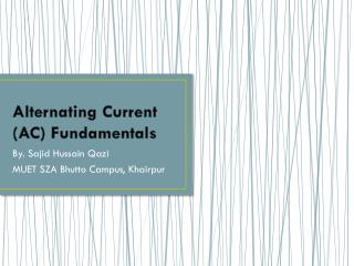 Alternating Current (AC) Fundamentals