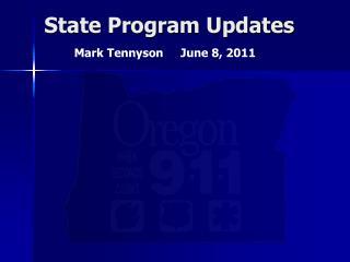 State Program Updates