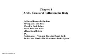 Acids and Bases�Definitions Strong Acids and Bases Chemical Equilibrium Weak Acids and Bases