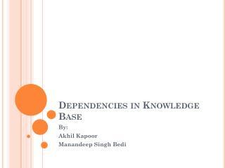 Dependencies in Knowledge Base