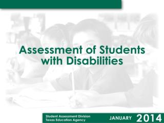 STAAR Alternate is the state assessment for students with significant cognitive disabilities.