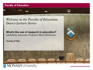 What's the use of research in education?