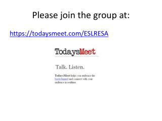 Please join the group at: