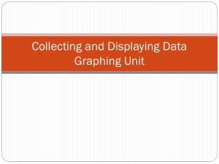 Collecting and Displaying Data Graphing Unit
