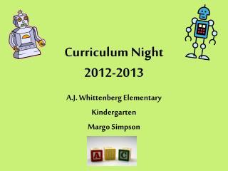 Curriculum Night 2012-2013