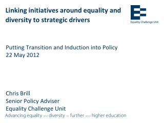 Linking initiatives around equality and diversity to strategic  drivers