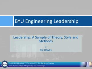 BYU Engineering Leadership