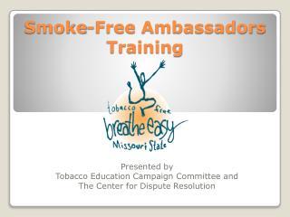Smoke-Free Ambassadors Training