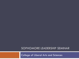 Sophomore Leadership Seminar