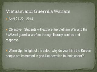 Vietnam and Guerrilla Warfare
