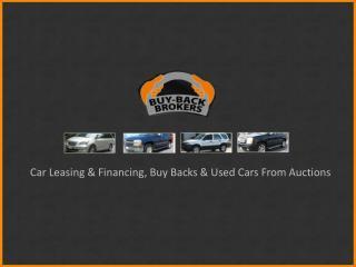 Car Leasing & Financing - Buy Back Brokers