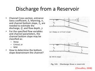 Discharge from a Reservoir