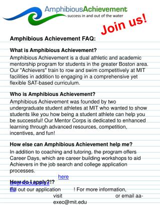 Amphibious Achievement FAQ: What is Amphibious Achievement?
