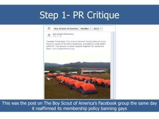 Step 1 – PR Critique