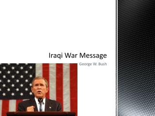 Iraqi War Message
