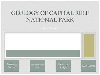 Geology of Capital Reef National Park
